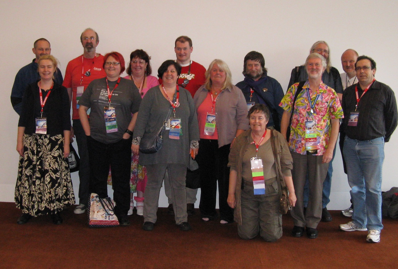Former GUFF winners gathered at Aussiecon 4, 2010